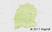 Physical Map of Dekese, cropped outside