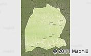 Physical Map of Dekese, darken