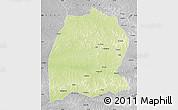 Physical Map of Dekese, desaturated