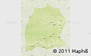 Physical Map of Dekese, lighten