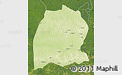 Physical Map of Dekese, satellite outside