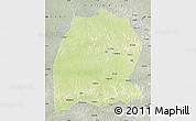 Physical Map of Dekese, semi-desaturated