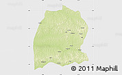 Physical Map of Dekese, single color outside