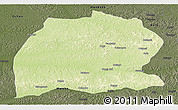 Physical Panoramic Map of Dekese, darken