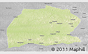 Physical Panoramic Map of Dekese, desaturated