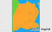 Political Simple Map of Dekese
