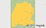 Savanna Style Simple Map of Dekese