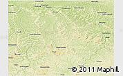 Physical Panoramic Map of Ilebo
