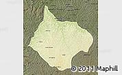 Physical Map of Luebo, darken
