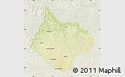 Physical Map of Luebo, lighten