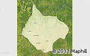 Physical Map of Luebo, satellite outside
