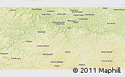 Physical Panoramic Map of Luebo