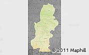 Physical Map of Kasai, darken, desaturated
