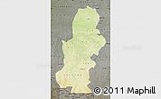 Physical Map of Kasai, darken, semi-desaturated