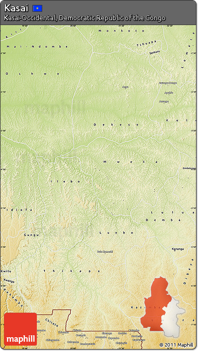 Physical Map of Kasai