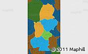 Political Map of Kasai, darken