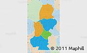 Political Map of Kasai, lighten