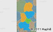 Political Map of Kasai, semi-desaturated