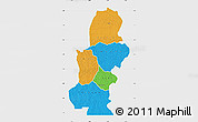 Political Map of Kasai, single color outside