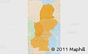 Political Shades Map of Kasai, lighten