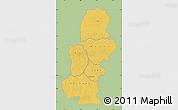 Savanna Style Map of Kasai, single color outside