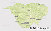 Physical 3D Map of Mweka, cropped outside
