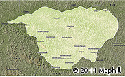 Physical 3D Map of Mweka, darken