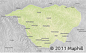 Physical 3D Map of Mweka, desaturated