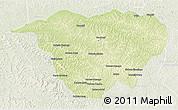Physical 3D Map of Mweka, lighten