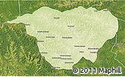 Physical 3D Map of Mweka, satellite outside
