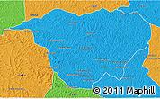Political 3D Map of Mweka