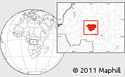 Blank Location Map of Mweka