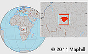 Gray Location Map of Mweka