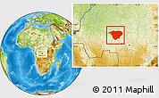 Physical Location Map of Mweka