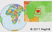 Political Location Map of Mweka