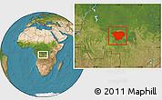 Satellite Location Map of Mweka