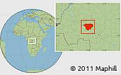 Savanna Style Location Map of Mweka