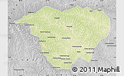 Physical Map of Mweka, desaturated