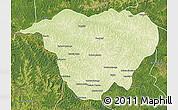 Physical Map of Mweka, satellite outside