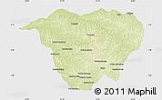 Physical Map of Mweka, single color outside
