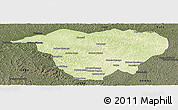 Physical Panoramic Map of Mweka, darken