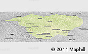 Physical Panoramic Map of Mweka, desaturated
