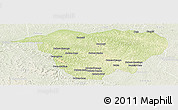 Physical Panoramic Map of Mweka, lighten