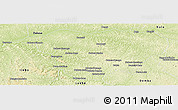 Physical Panoramic Map of Mweka