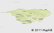 Physical Panoramic Map of Mweka, single color outside