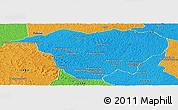 Political Panoramic Map of Mweka