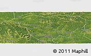 Satellite Panoramic Map of Mweka