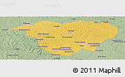 Savanna Style Panoramic Map of Mweka