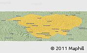 Savanna Style Panoramic Map of Mweka