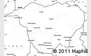 Blank Simple Map of Mweka